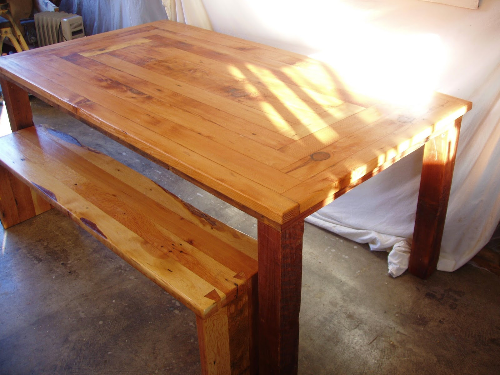 This Table Is 72 X 40 X 30 High, The Bench Is 60 X 13 X 18 High. For  Details, Contact, And Purchasing Information Visit My Online Shop At ...