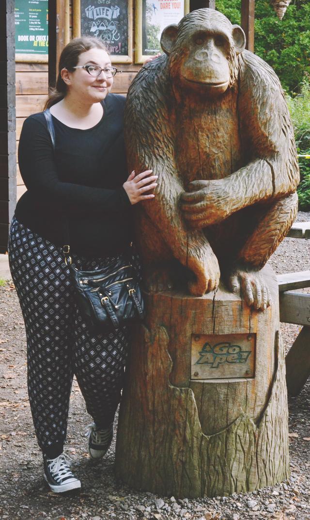 Monkey statue at Go Ape Trent Park