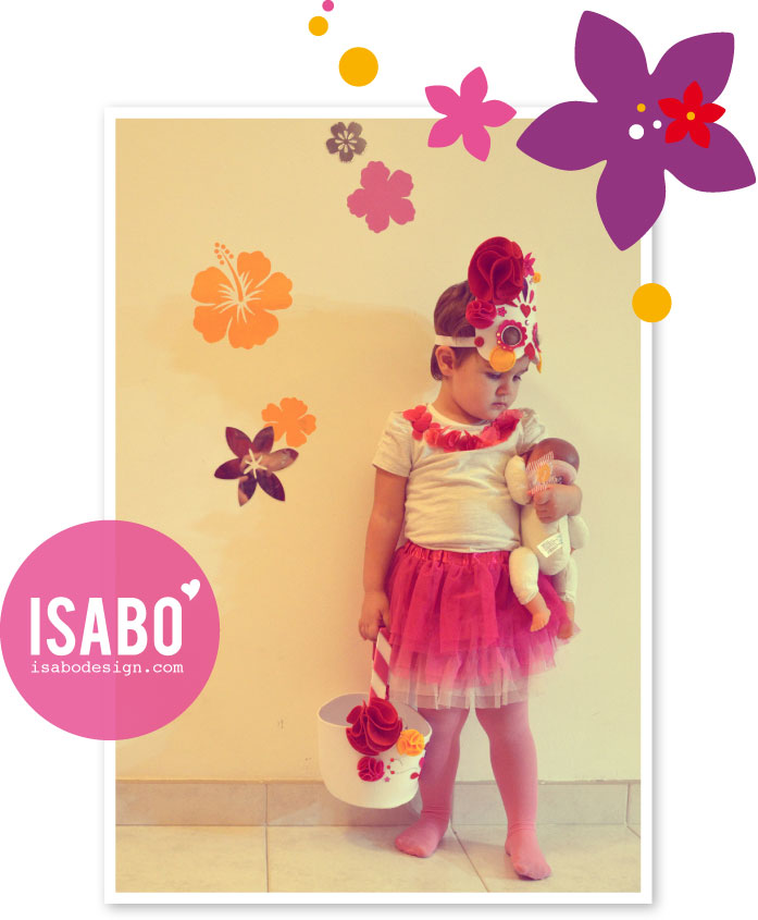 ISABO Halloween Skeleton Flower Mask