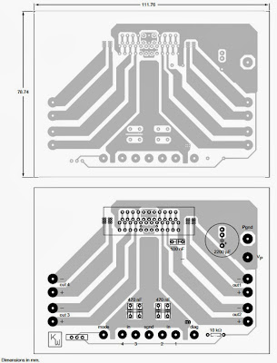 pcb for layout for 4 x 40W TDA8569Q Audio Amplifier