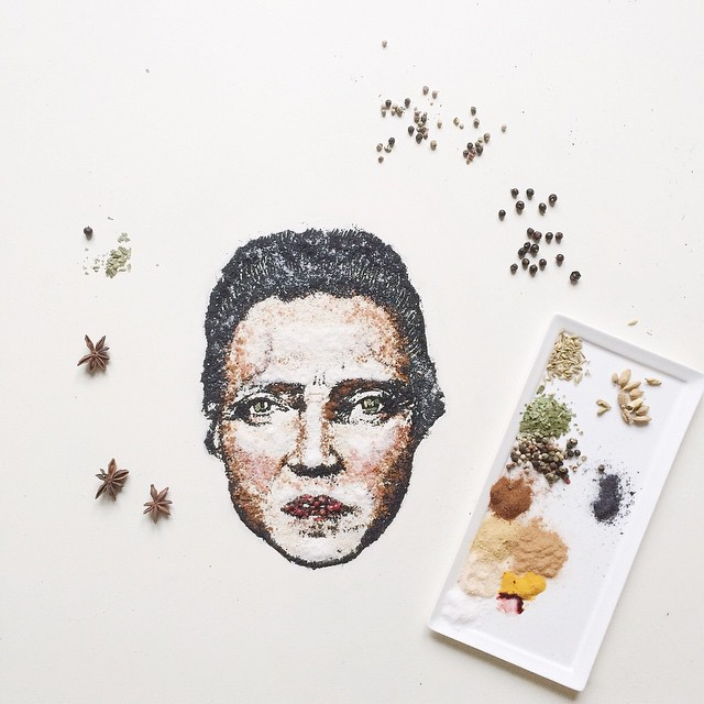 08-Christopher-Walken-Bernulia-Doodle-Drawings-and-Paintings-with-Food-Art-www-designstack-co
