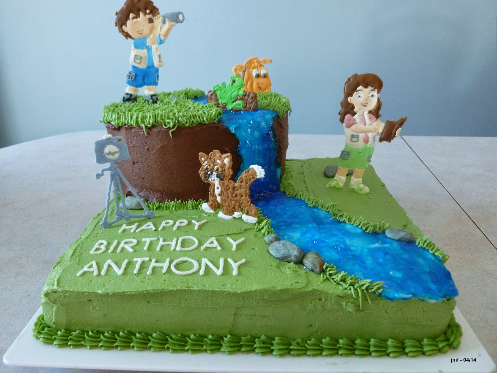 Jens Crafts And Cakes Go Diego Go - Go diego go birthday cake