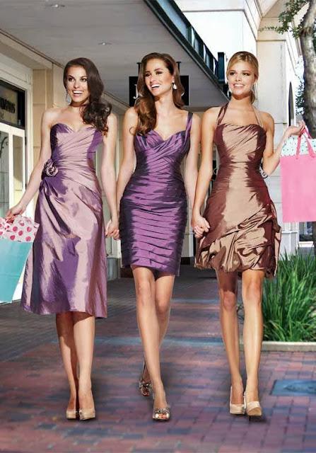 taffeta bridesmaid  dress