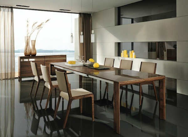 Modern wooden dining suite