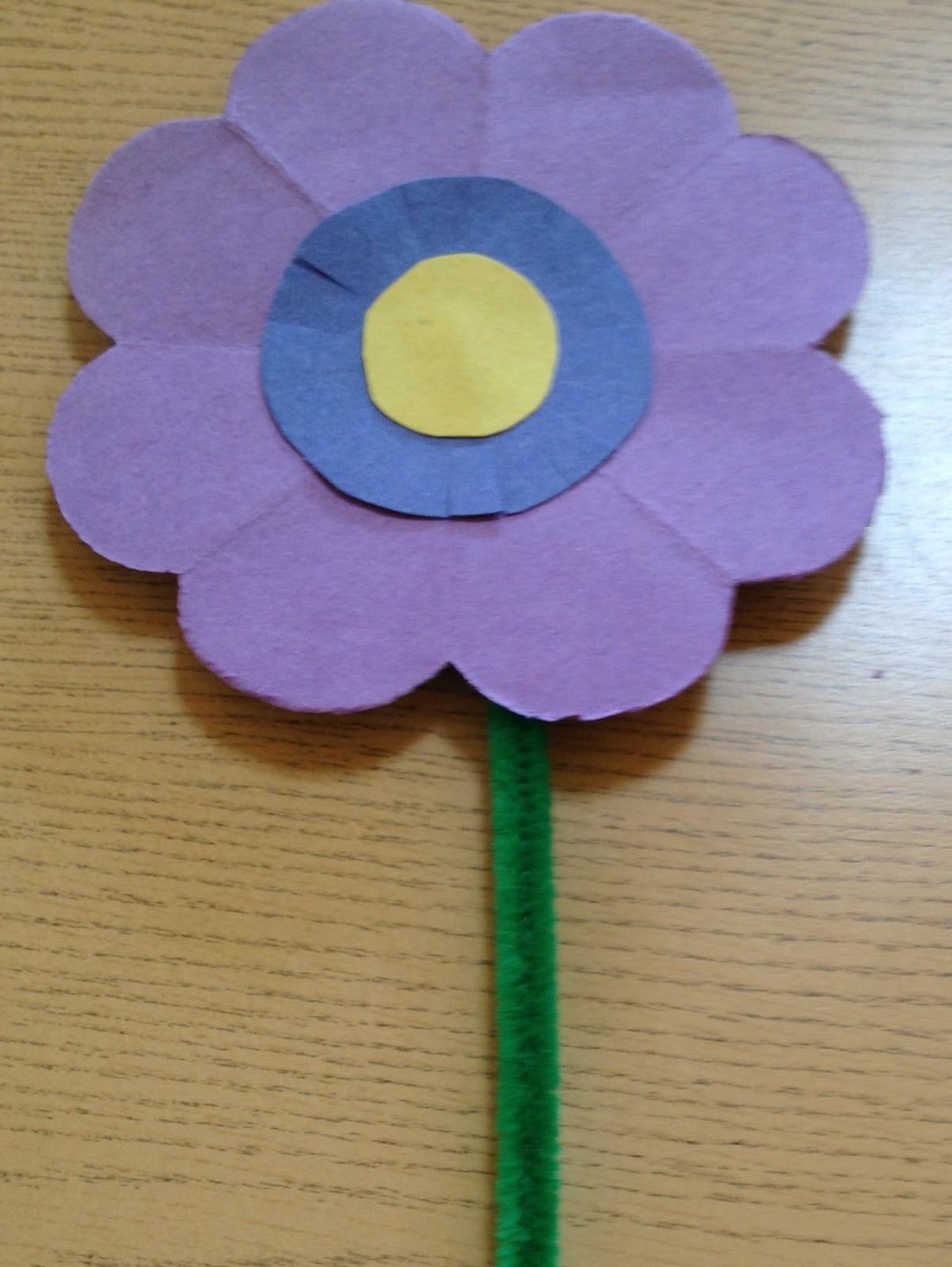 Evergreen Montessori House Cut Paper Flowers