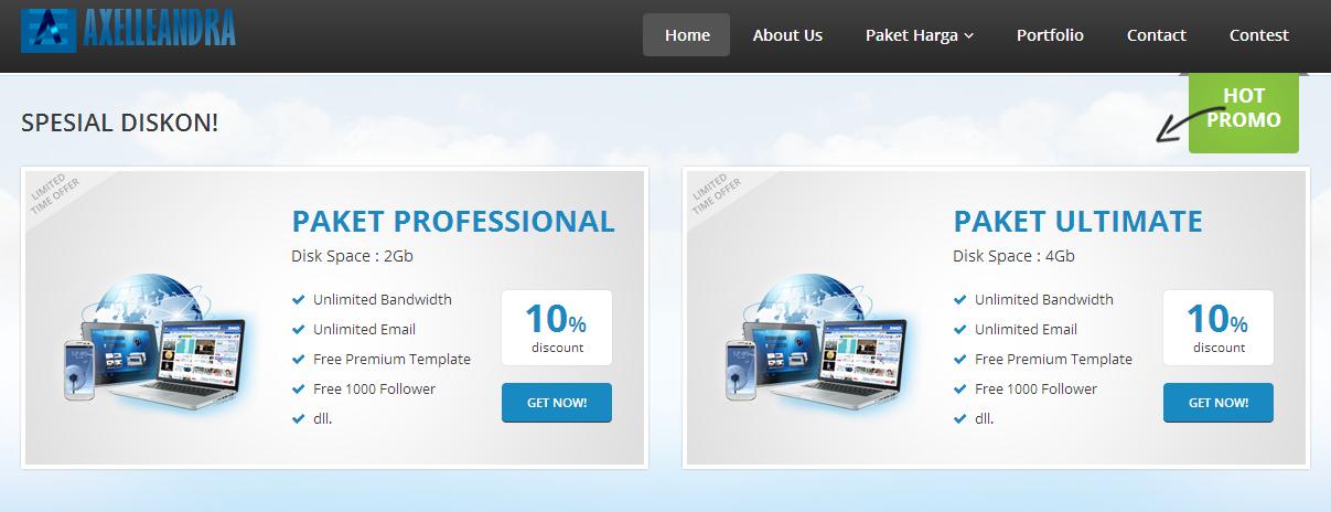 Jasa Pembuatan Website Murah Dan Berkualitas Axelleandra.com