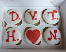 cupcake con iniziali