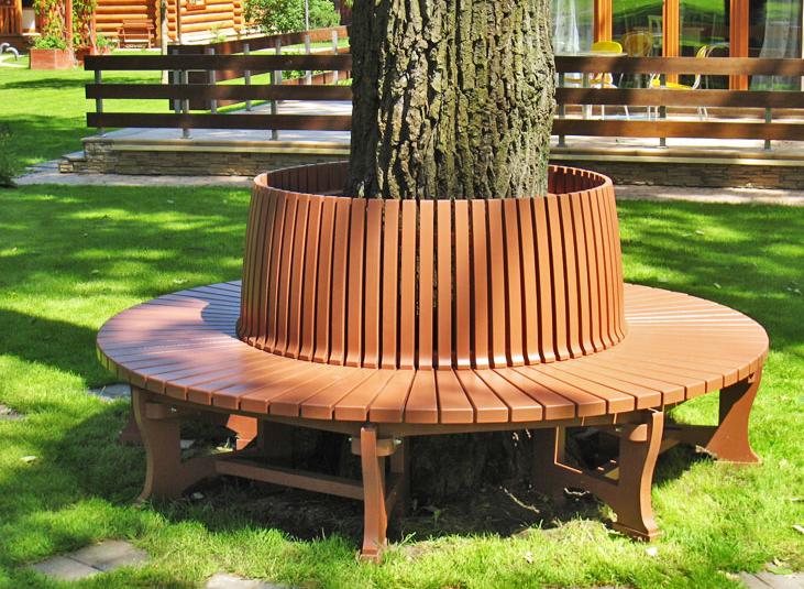 Дизайн лавочки из дерева