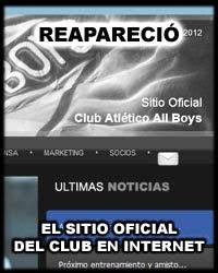 Volvió el Sitio Oficial del Club