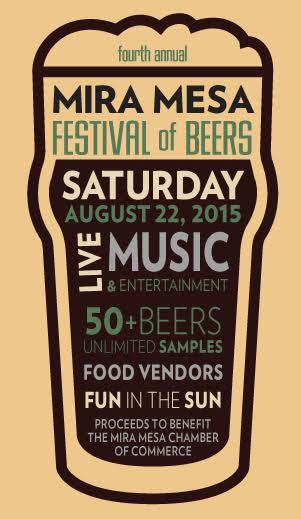 Save on passes and enter to win VIP tickets to the Mira Mesa Festival of Beer