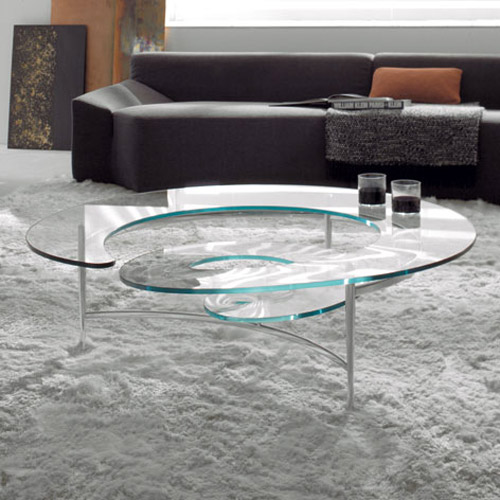 Spiral Coffee Table by Ca Nova Design Clear