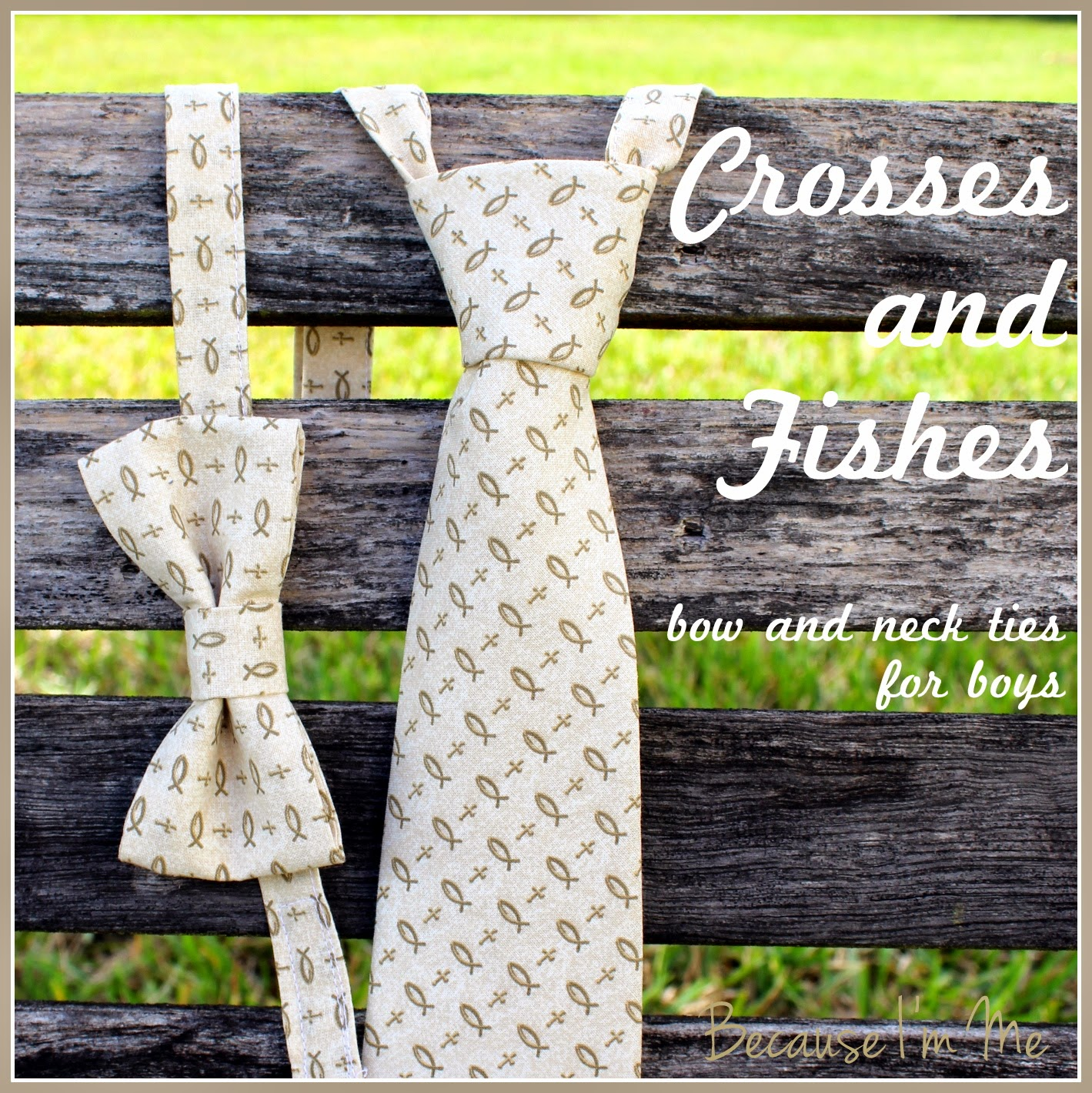 Crosses and Fishes Christian Bowties and Neckties