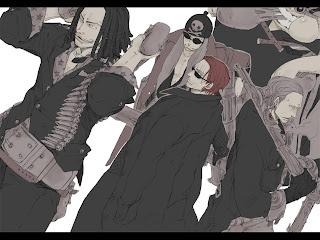 One Piece Red Haired Pirates Yasopp Lucky Roo Shanks Benn Beckman anime Pistol Riffle HD Wallpaper