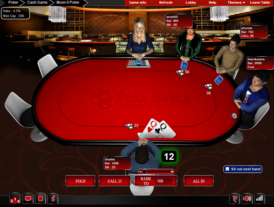online texas holdem for real money