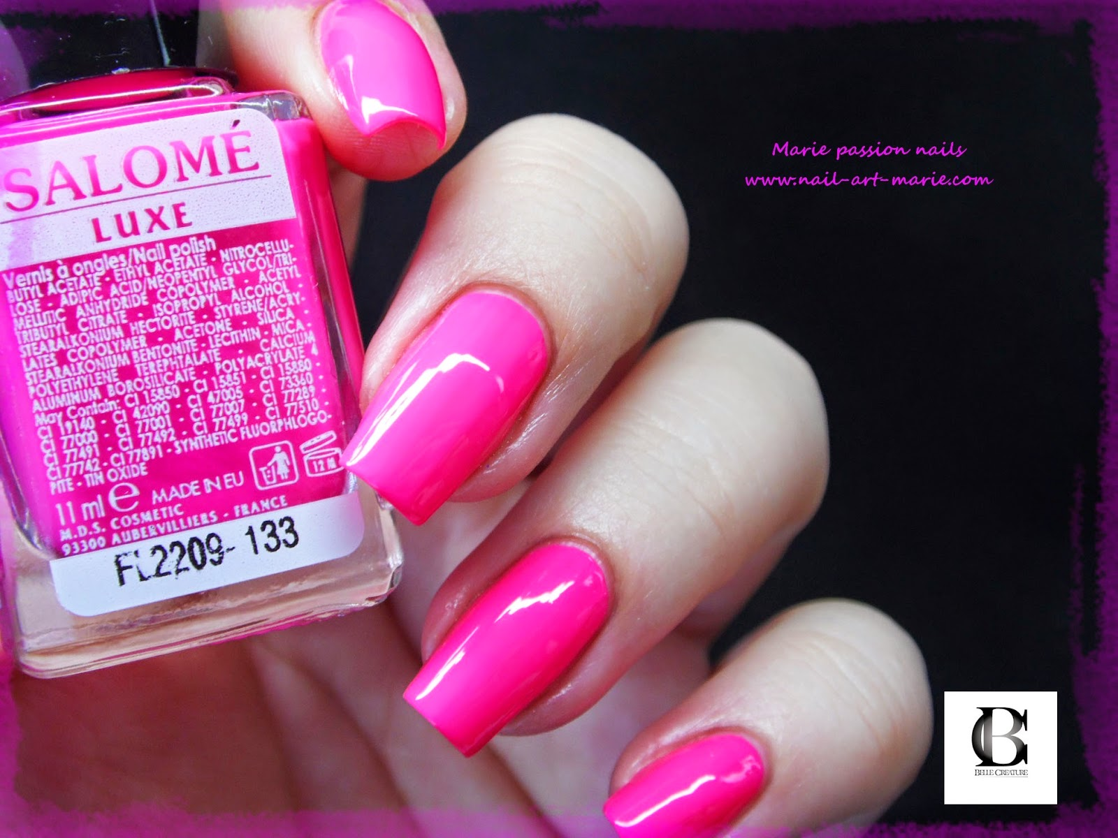 Salomé Luxe rose fluo3