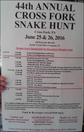 6-25/26 Cross Fork Snake Hunt