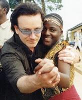 Bono posing in Africa