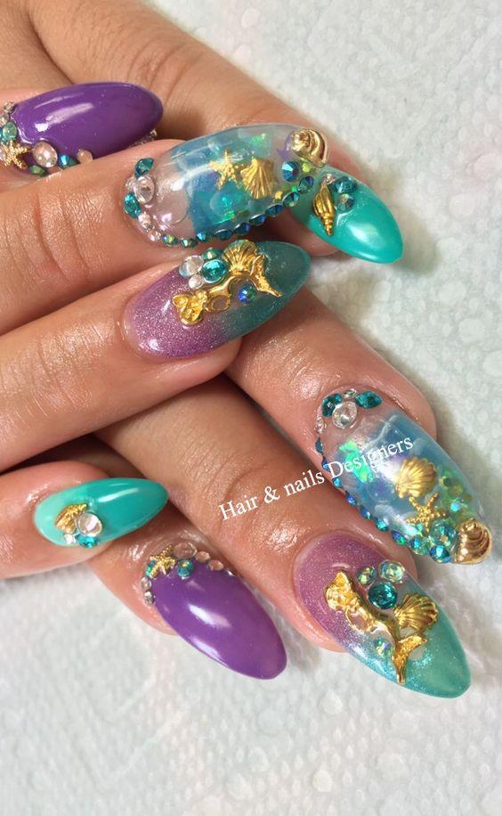 Calendarlabs June : Awesome aquarium nail art ideas omg love beauty