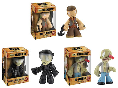 "The Walking Dead 7"" Mystery Mini Vinyl Figures Wave 1 by Funko - Daryl Dixon, Prison Guard Walker & RV Walker"