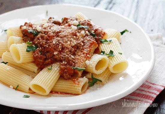... and Glimmer: Best Spaghetti Sauce Ever- Skinnytaste Bolognese Sauce