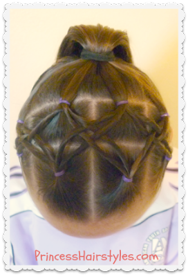 Woven twist headband and ponytail hair tutorial