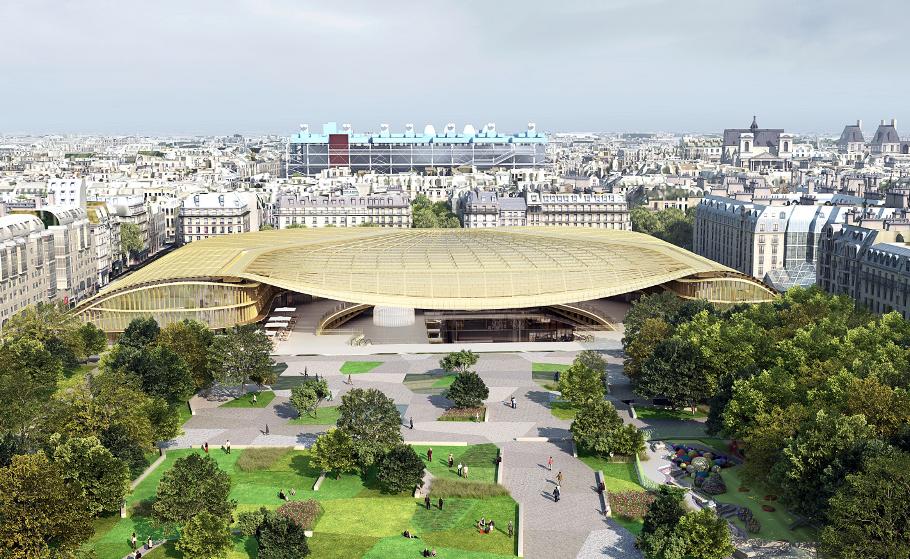 Futurix les halles il nuovo cuore di parigi nel 2016 for Quartiere moderno parigi
