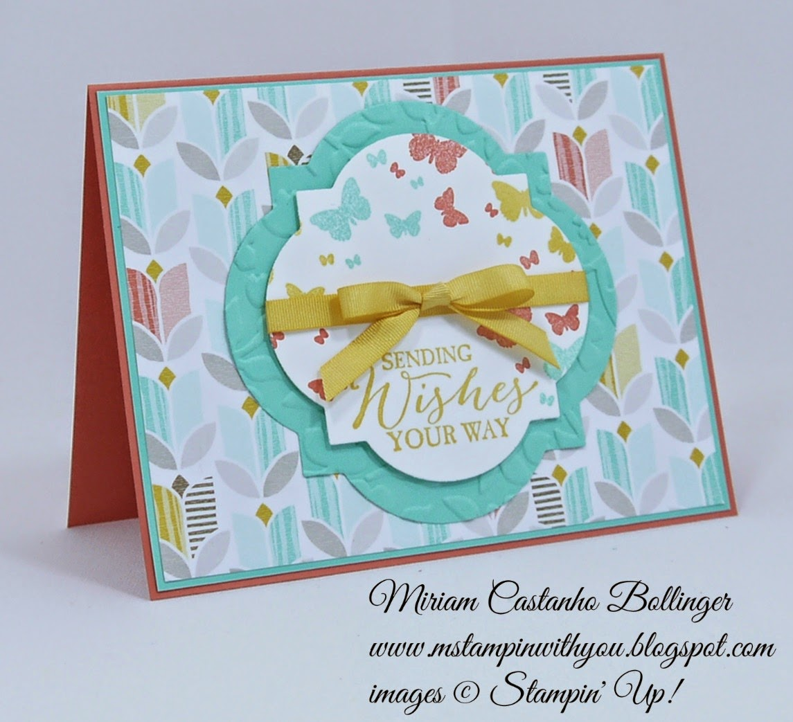 Miriam Castanho Bollinger, #mstampinwithyou, stampin up, demonstrator, splitcoaster cas313, best year ever dsp, butterfly basics stamp set, perpetual birthday calendar, big shot, window frames collection, spring flowers TIEF, best year ever accessory pack, su