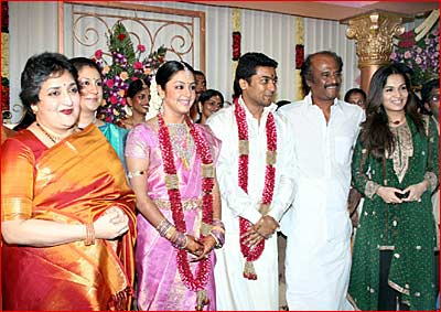 Surya Jyothika Marriage Photo with Rajini