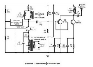 AM <a href='http://www.circuitlab.org/search/label/transmitter' title=' transmitter  circuits'>transmitter</a> circuit analysis