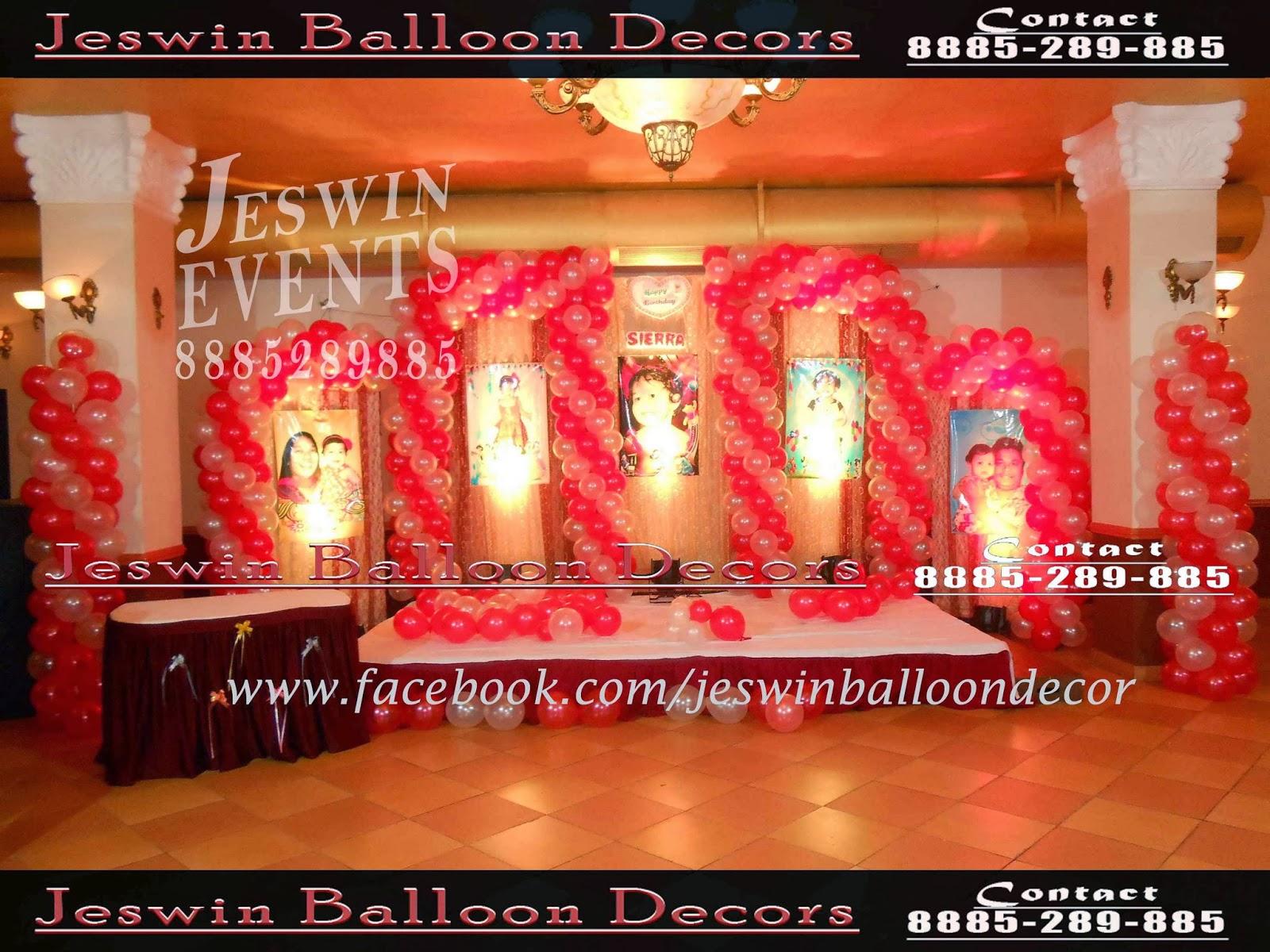 Jeswin balloon decors balloon decoration in hyderabad for Balloon decoration in hyderabad