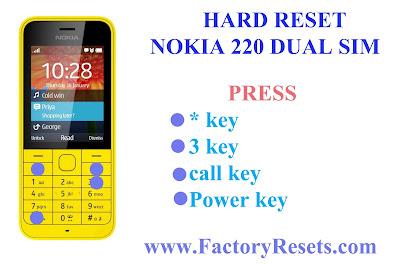 Hard Reset Nokia 220 Dual SIM