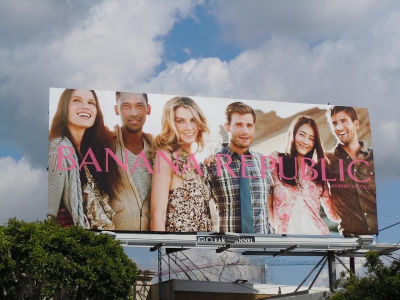 Banana Republic Journey in Style billboard