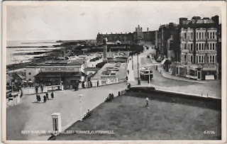 Vintage postcard of the Cliff Theatre and Ethelbert Terrace, Cliftonville, Kent