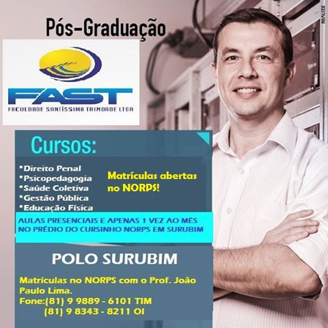 Faça sua Pós-Graduação em Surubim!