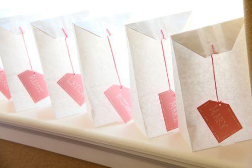 Tea Bags Favors Bags Into Giant Tea Bags