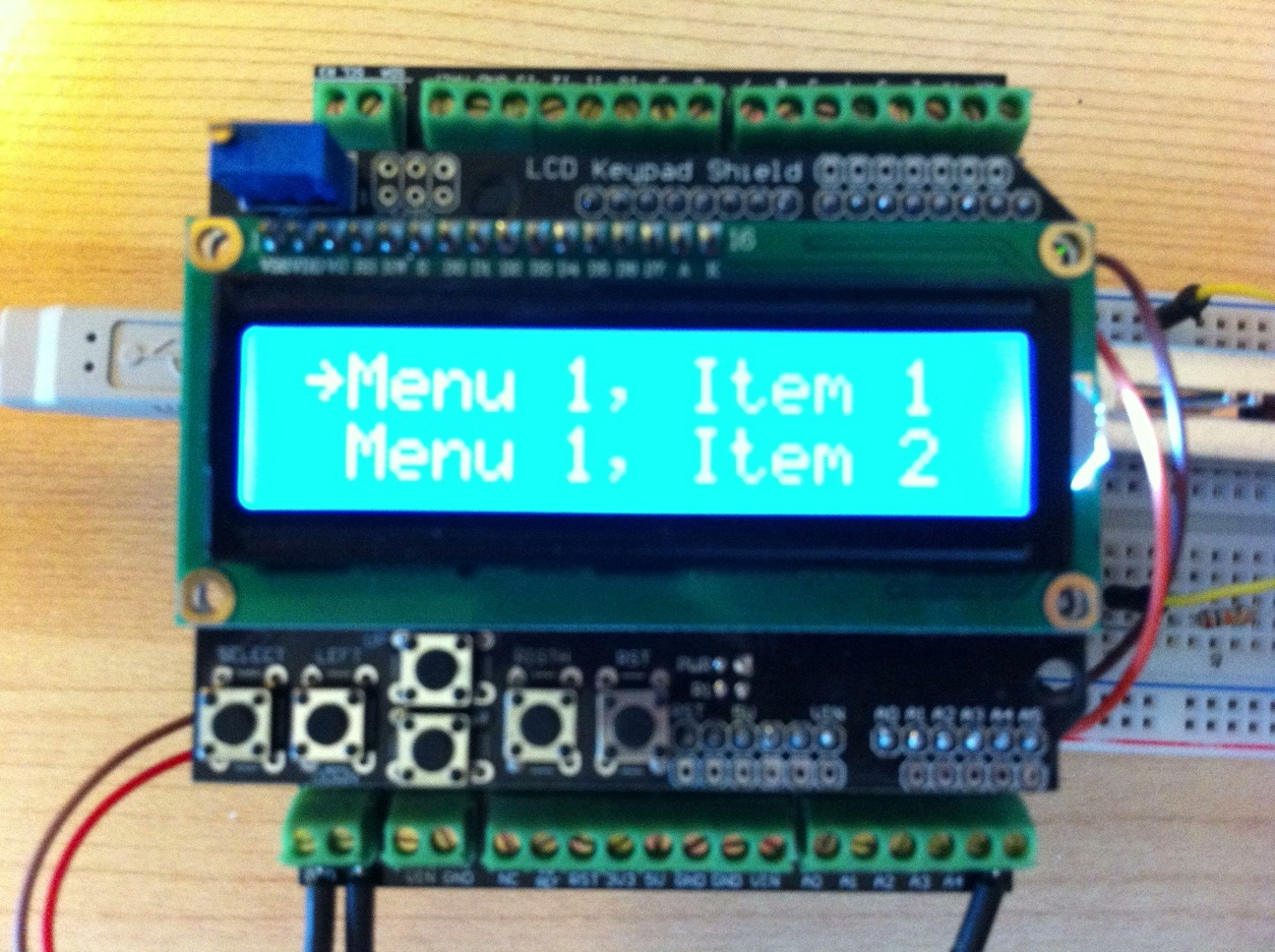 The making of a maker simple vertical menu for arduino