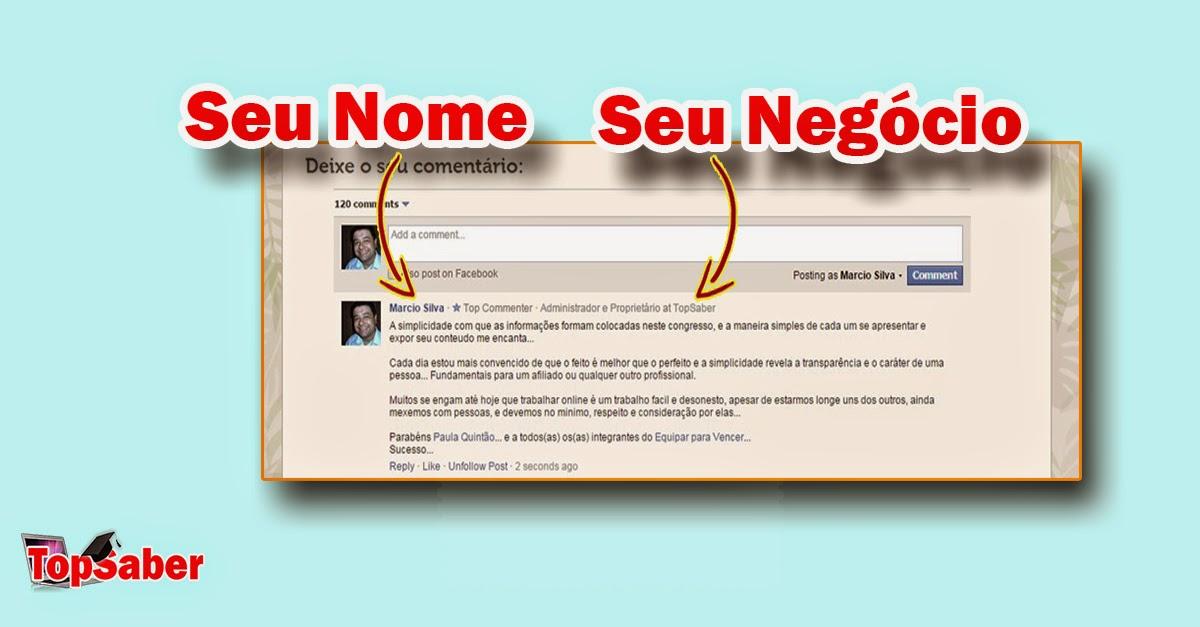 Comentário feito por Marcio Silva no site Equipar para Vender | Chamada de Ação TopSaber