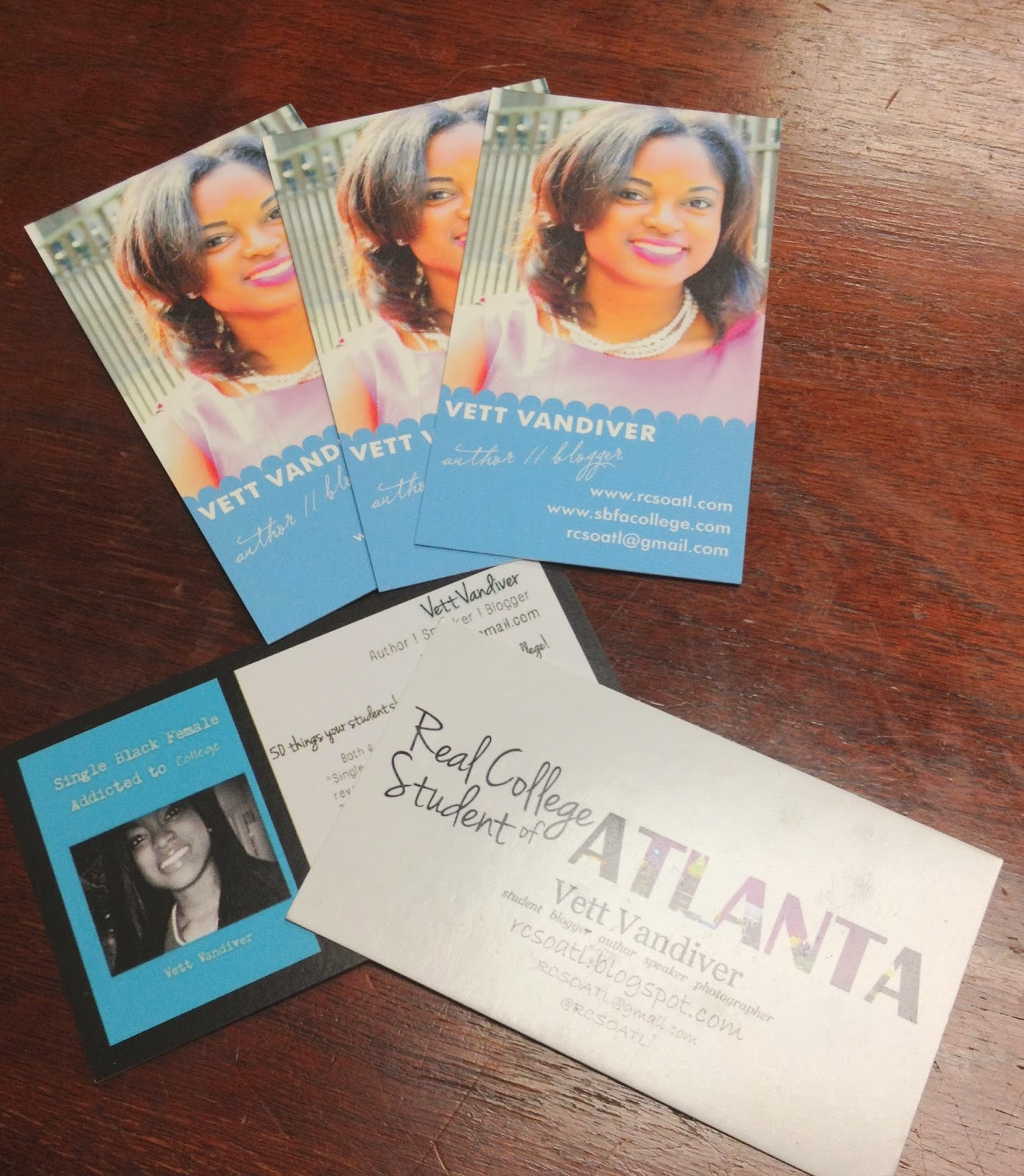 real college student of atlanta custom business cards minted