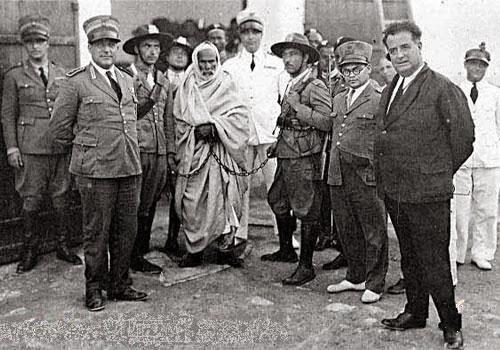 صورة لعمر المختار المجاهد الذي قاوم الاستعمار الايطالي 4149HLKH
