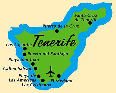 Tenerife Mapa Ciudad de la Región