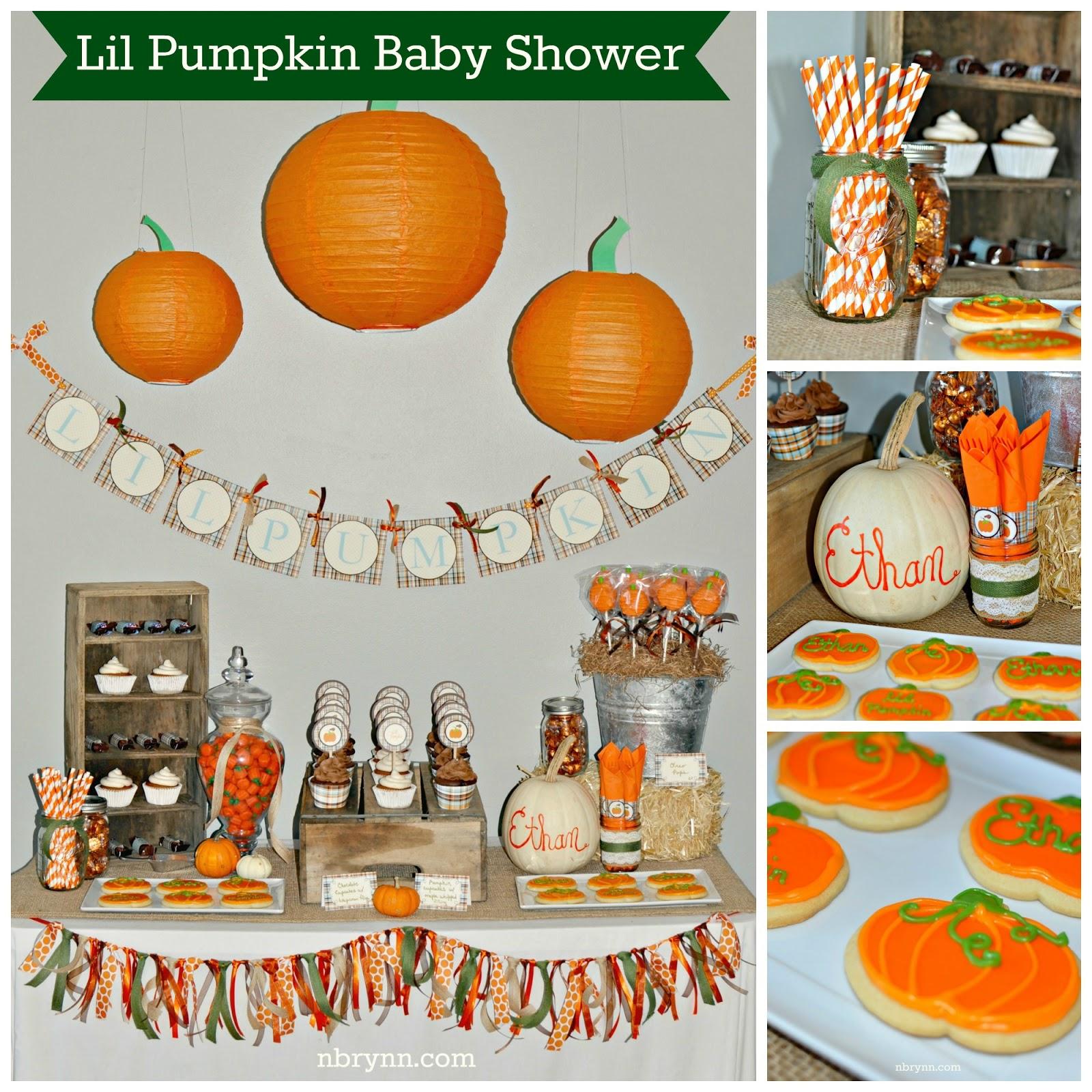 nbrynn lil pumpkin baby shower