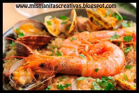 Receta como hacer paella con mariscos mis manitas creativas - Como cocinar paella ...