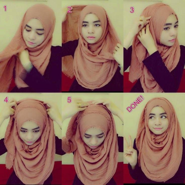Tutorial Cara Memakai Hijab 1 by Hijab Amouria Pashmina Scarf