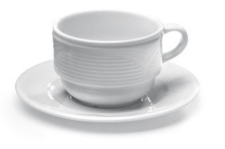 Ceasca si Farfurie Saturn, Vesela Portelan Exclusiv, Pret, Vesela Restaurant, Portelan Alb, Seturi Vesela, Hendi