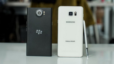 Samsung Galaxy Note 5 vs. BlackBerry Priv