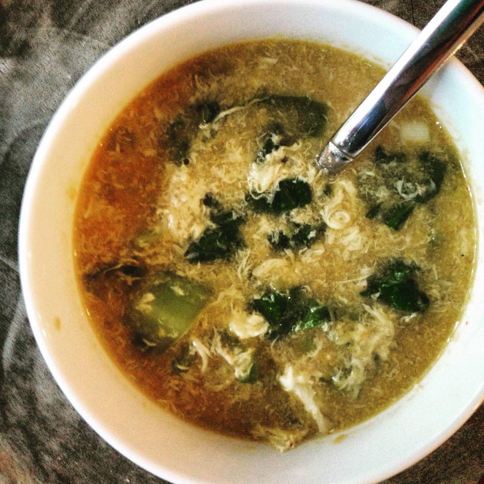 Vanilla Garlic Sick Gochujang Egg Flower Soup