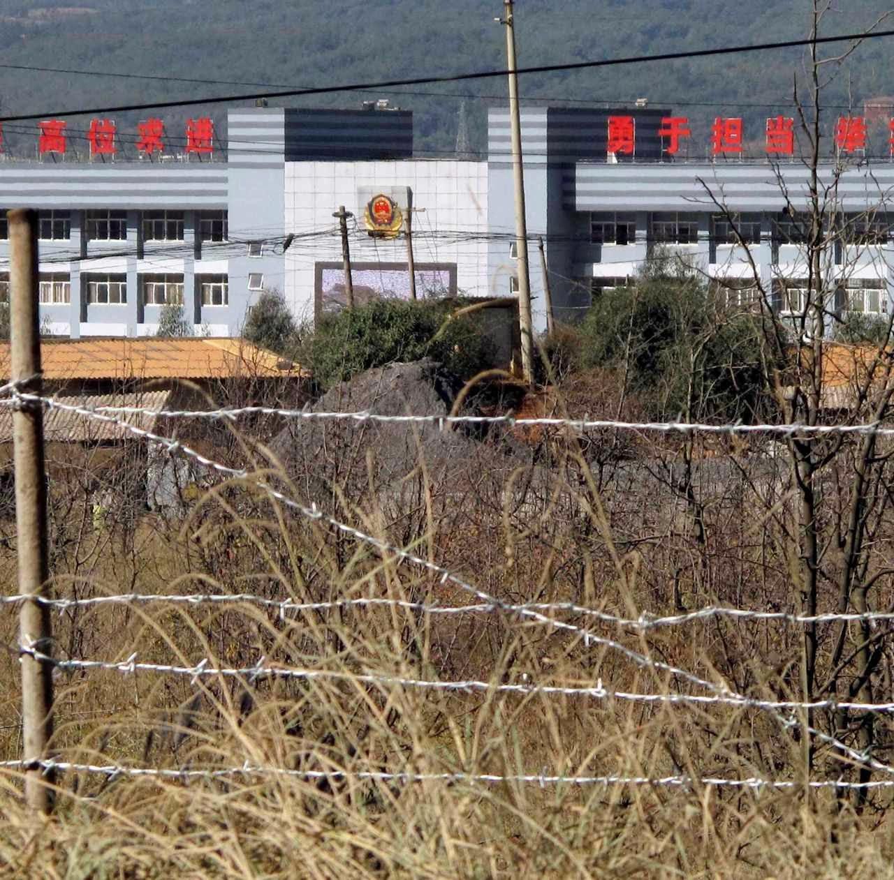 Campo de trabalhos forçados em Kunming, província de Yunnan