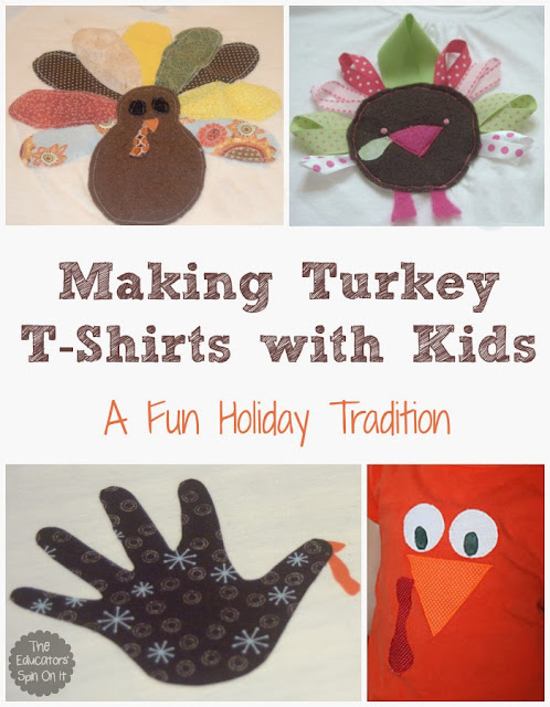 Making Turkey T-Shirts for Thanksgiving with Kids