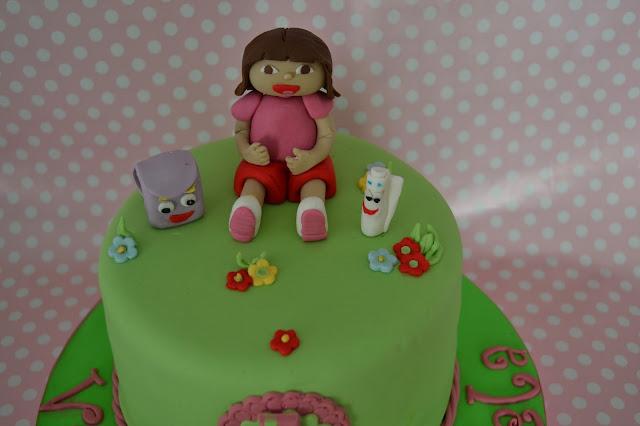 Tarta Modelado Dora la exploradora, fondant, pasta de goma, sugar dreams gandia