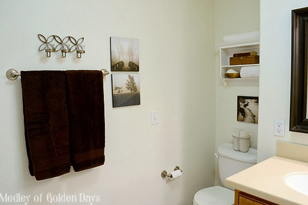 Master Bathroom from Medley of Golden Days Blog